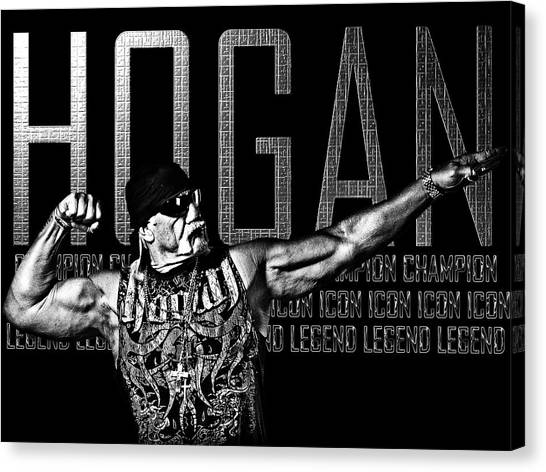 Wwe Canvas Print - Hogan Tribute By Gbs by Anibal Diaz