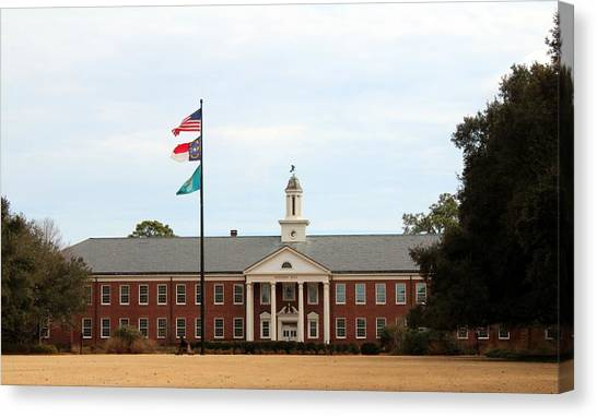 Bachelors Degree Canvas Print - Hoggard Hall by Cynthia Guinn