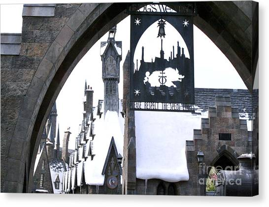 Hogsmeade Sign Canvas Print