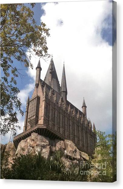 Hogwarts On High Canvas Print