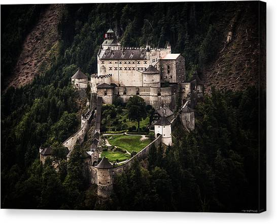 Canvas Print featuring the photograph Hohenwerfen Castle by Ryan Wyckoff