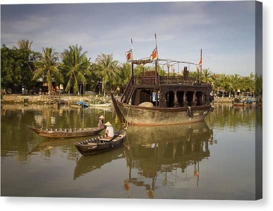 Hoi An River Boats Canvas Print