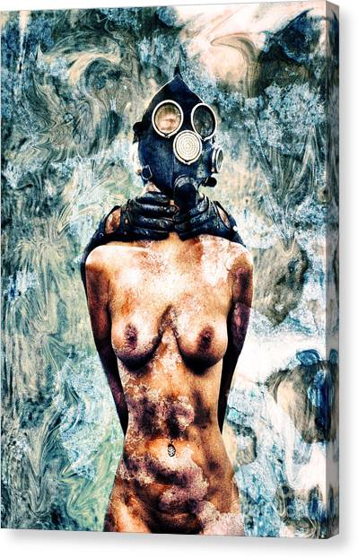Breathe Canvas Print - Hold Me If I M Dying 4 by Stelios Kleanthous