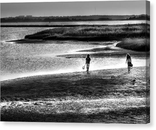 Crabbing Canvas Print - Holding On To Those Years by Karen Wiles