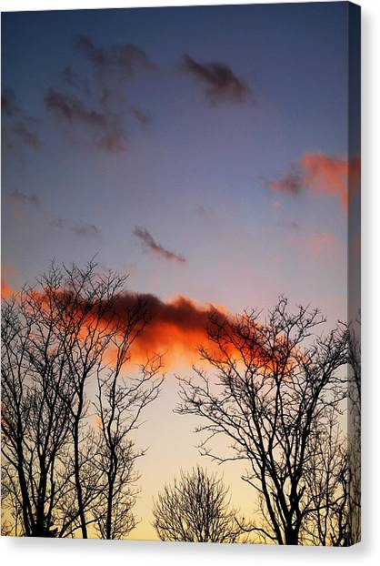Holding Up The Cloud Canvas Print