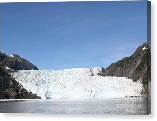 Holgate Glacier Canvas Print by Russell Christie