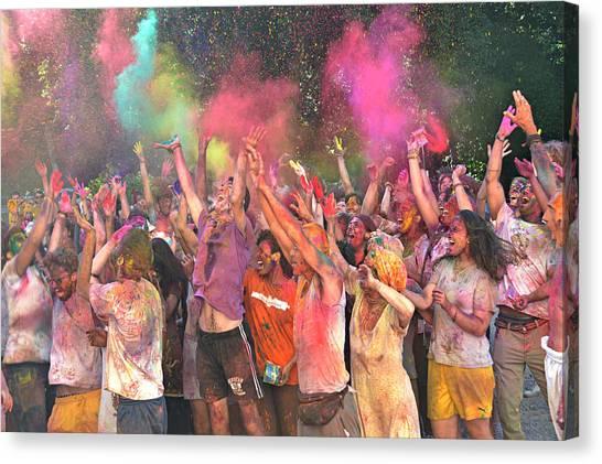 Holi Color Festival Canvas Print