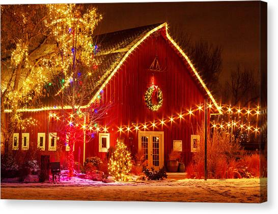 Holiday Barn Canvas Print