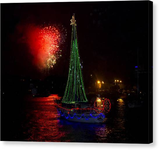 Holiday Boat Parade Canvas Print