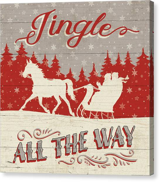 Holiday In The Woods I Canvas Print by Janelle Penner