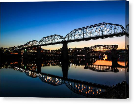 Holiday Lights Chattanooga Canvas Print