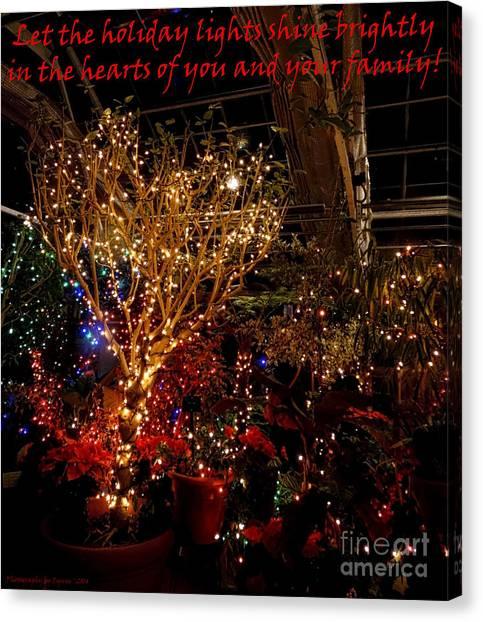Holiday Lights Greeting Card Canvas Print