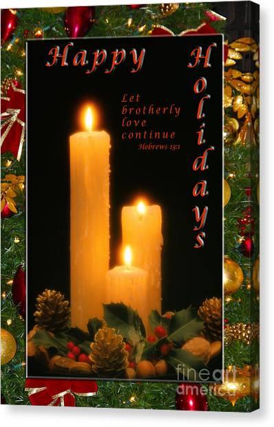 Holiday Love Declaration2 Canvas Print
