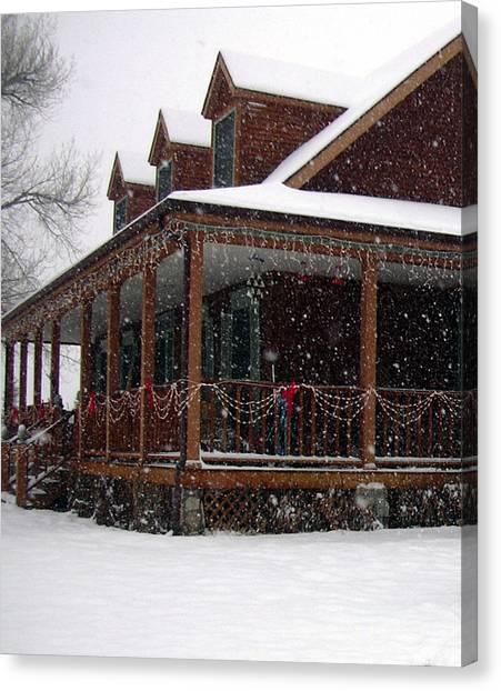 Holiday Porch Canvas Print