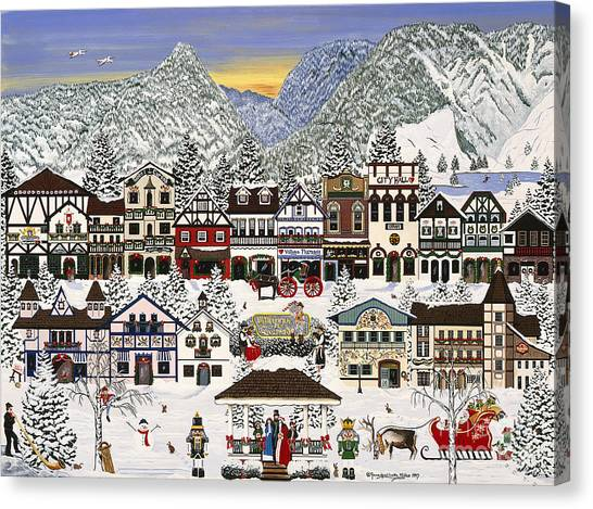 Holiday Village Canvas Print