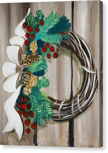 Holiday Wreath 2 Canvas Print