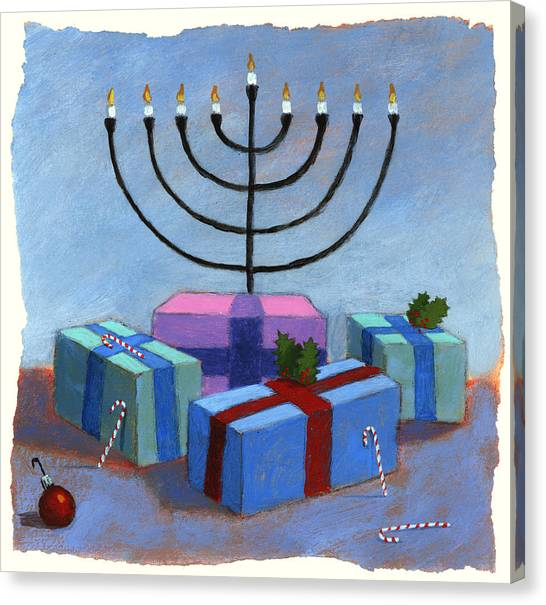American Jewish Artists Canvas Print - Holidays by Steve Dininno