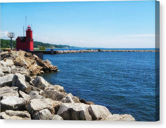 Holland Harbor Light Canvas Print