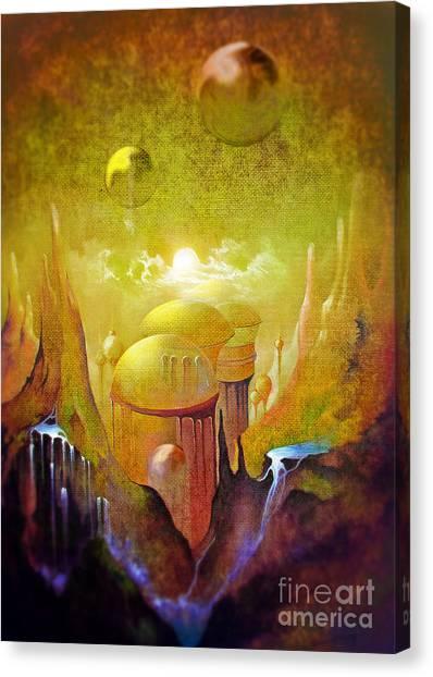 Hollow Earth Agharta Canvas Print