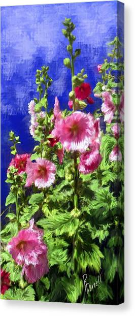 Hollyhock Haven Canvas Print