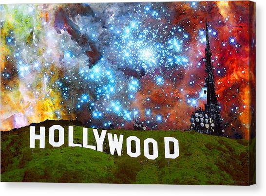 Hollywood Sign Canvas Print - Hollywood 2 - Home Of The Stars By Sharon Cummings by Sharon Cummings
