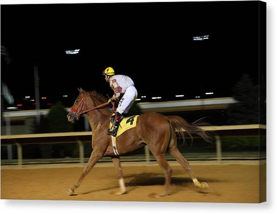 West Canvas Print - Hollywood Casino At Charles Town Races - 121229 by DC Photographer