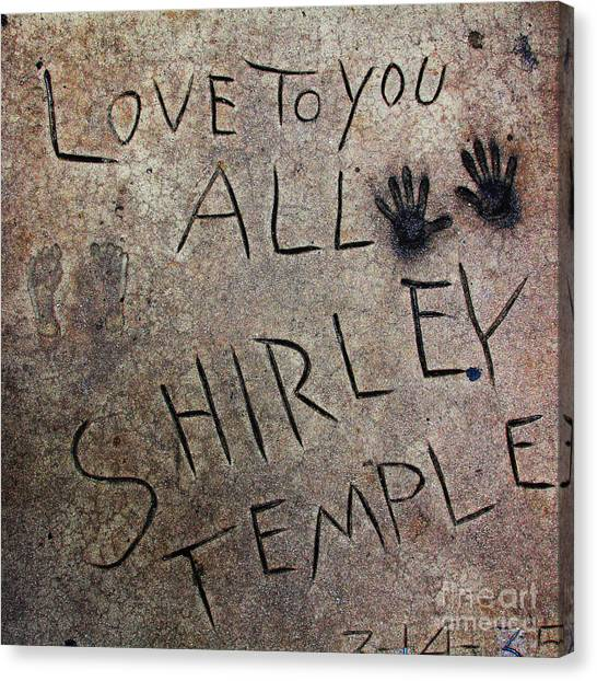 Shirley Temple Canvas Print - Hollywood Chinese Theatre Shirley Temple 5d29050 by Wingsdomain Art and Photography