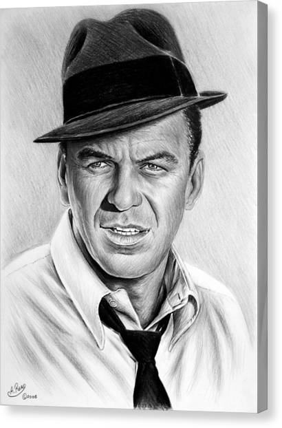 Frank Sinatra Canvas Print - Hollywood Collection Ole Blue Eyes by Andrew Read