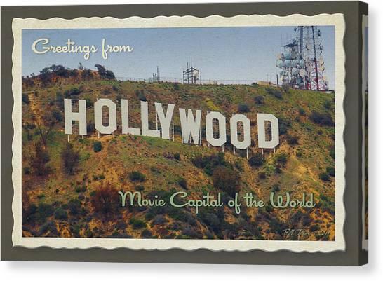 Hollywood Postcard Canvas Print by Bill Jonas