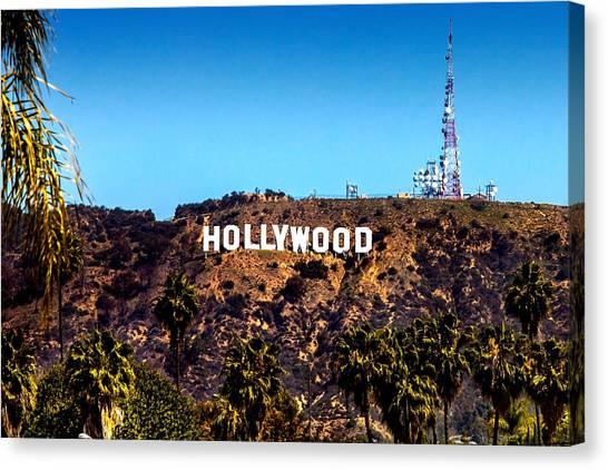 Industry Canvas Print - Hollywood Sign by Az Jackson