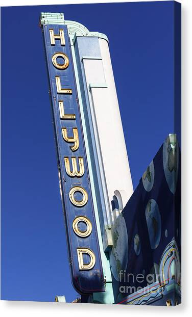 Hollywood Sign Canvas Print - Hollywood Sign In Hollywood California by Paul Velgos