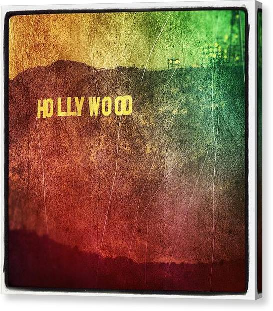 Hollywood Canvas Print - Hollywood Sign by Jill Battaglia