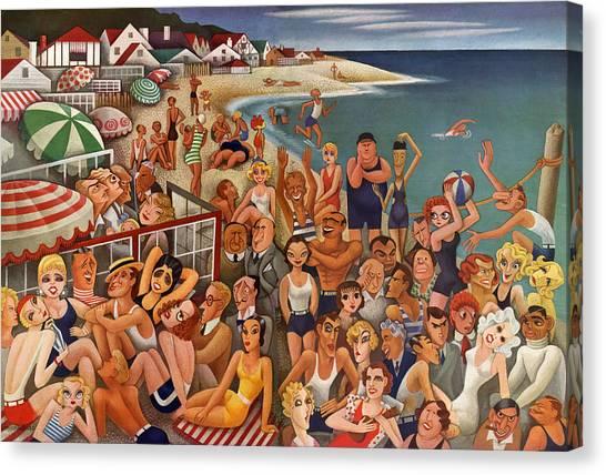 Hollywood's Malibu Beach Scene Canvas Print