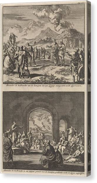 Early Christian Art Canvas Print - Holy Alexander Carbonarius Is Rejected By The Early by Jan Luyken And Barent Visscher And Jacobus Van Hardenberg