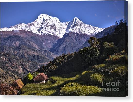 Holy Annapurna South Photo By Artmif Hdr Canvas Print