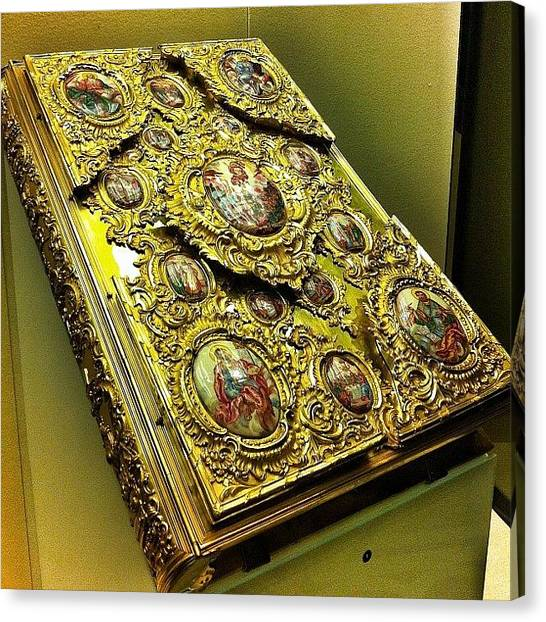 Orthodox Art Canvas Print - Holy Bible In Gold. Historical Museum by Helen Vitkalova