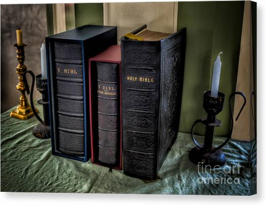 Holy Bible Canvas Print - Holy Bibles by Adrian Evans