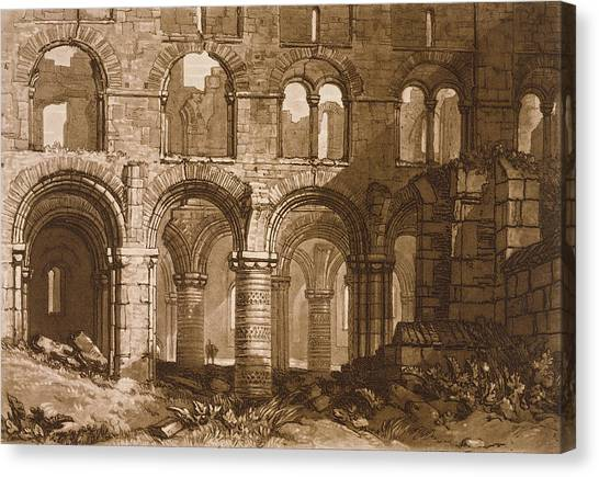 Romanesque Art Canvas Print - Holy Island Cathedral by Joseph Mallord William Turner