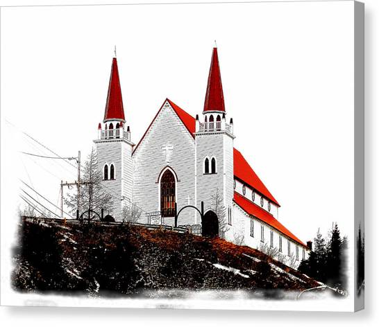 Newfoundland And Labrador Canvas Print - Holy Redeemer Anglican Church by Zinvolle Art