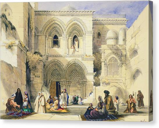 Pilgrimmage Canvas Print - Holy Sepulchre, In Jerusalem by A. Margaretta Burr