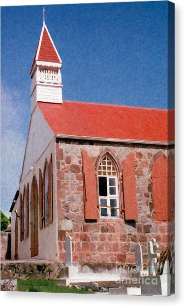 Holy Trinity Church On Saba Canvas Print