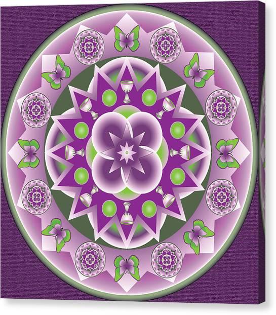 Holy Week Mandala Canvas Print by Linda Pope