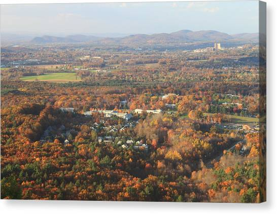 University Of Connecticut Canvas Print - Holyoke Range Foliage View From Bare Mountain by John Burk