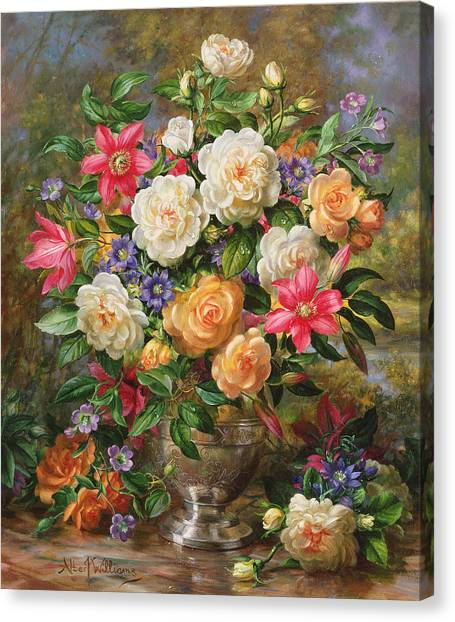 In Bloom Canvas Print - Homage To Her Majesty The Late Queen Elizabeth The Queen Mother by Albert Williams