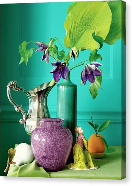 Silver Leaf Canvas Print - Home Accessories by Beatriz Da Costa