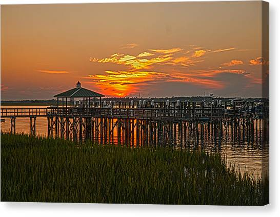 Home At The Dock Canvas Print
