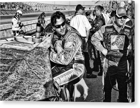 Tony Stewart Canvas Print - Home Depot Tony 20 by Kevin Cable