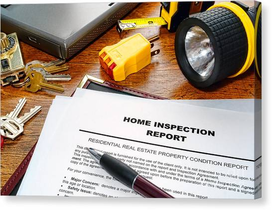 Folders Canvas Print - Home Inspection Report by Olivier Le Queinec