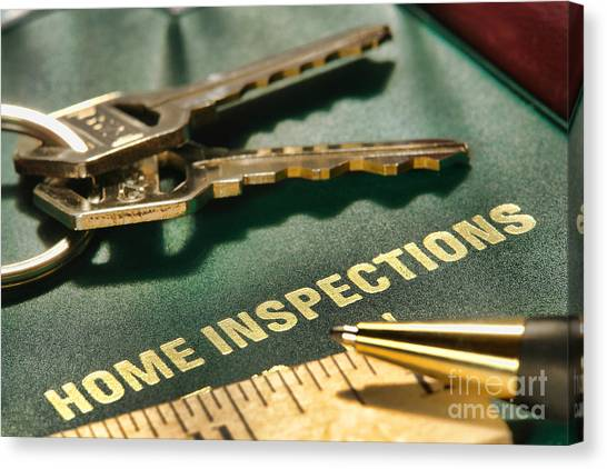 Folders Canvas Print - Home Inspections by Olivier Le Queinec