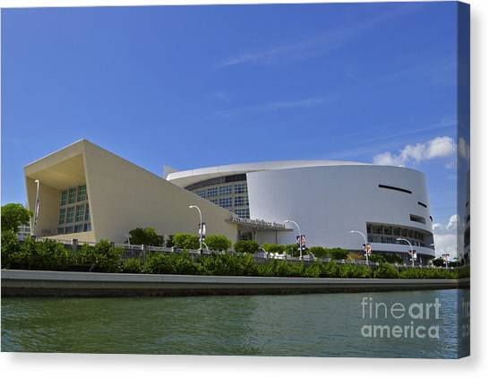 Dwayne Wade Canvas Print - Home Of The Heat Daytime by Rick Bravo